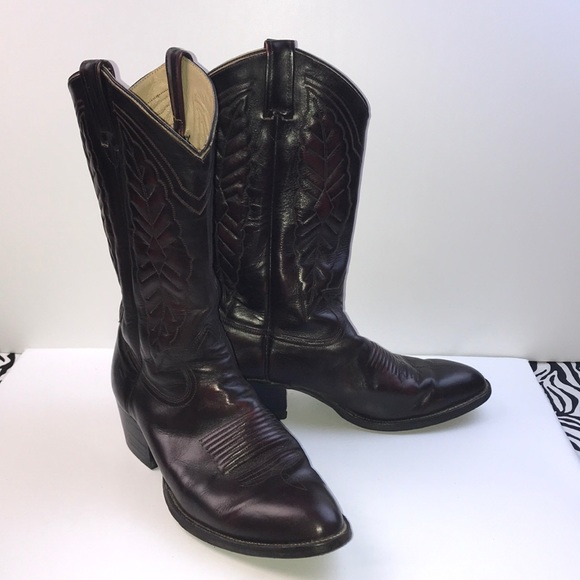 Vintage Levis Leather Cowboy Boots Mens